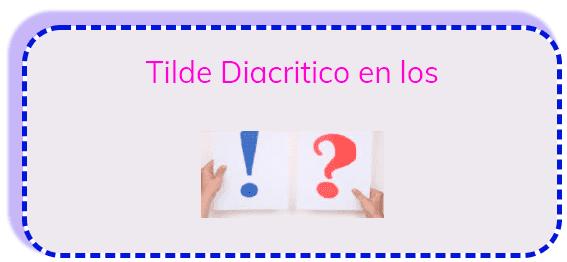 Tilde Diacritico en los Interrogativos y Exclamativos