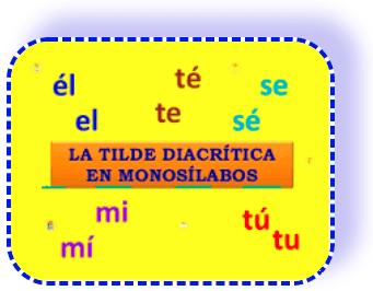 Tilde Diacritico de monosilabas